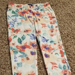 Girls Route 66 Floral Jeggings